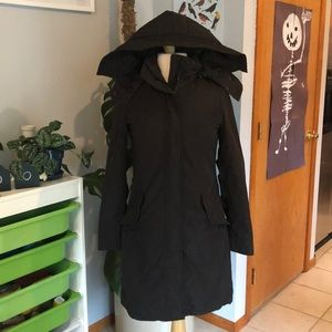 Black Zara jacket, trench, rain jacket